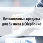 Беззалоговые кредиты для бизнеса в Сбербанке