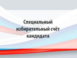 Специальный избирательный счёт кандидата