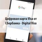Цифровая карта Visa от Сбербанка - Digital Visa